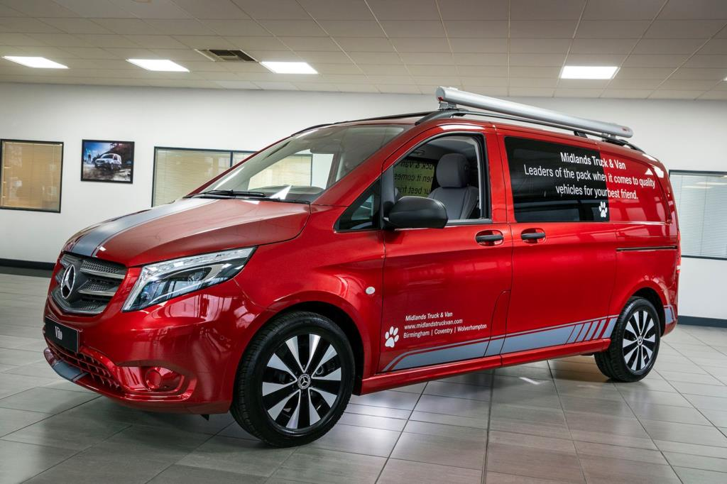 Best of breed: The stunning Mercedes-Benz Vito Sport with dog-carrying conversion which Midlands Truck & Van will be presenting at this week's Crufts
